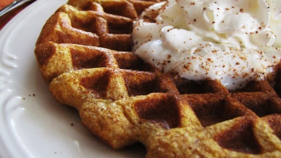 Cinnamon Pumpkin Waffles Recipe - Allrecipes.com