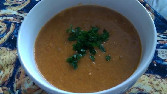 Red Lentil and Bulgur Soup