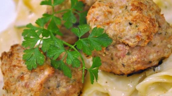 Cheesy Chicken Meatballs Recipe - Allrecipes.com