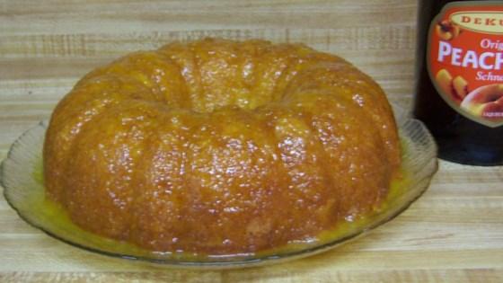 Fuzzy Navel Cake With Peaches