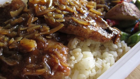 Cola Onion Pork Chops