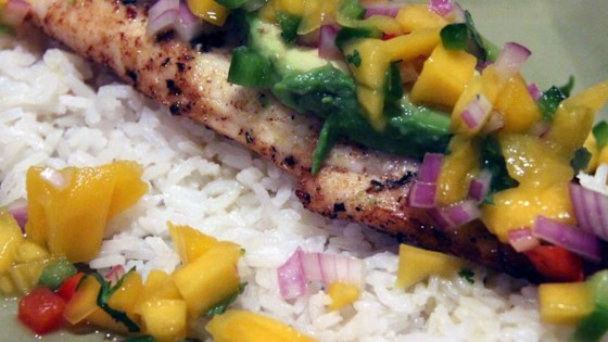 Grilled Tilapia and Mango Salsa