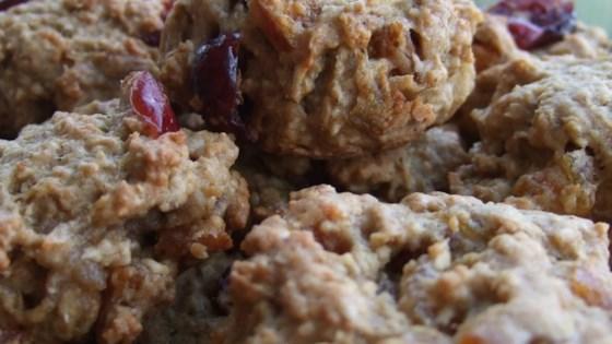 Apple-Cran-Cherry Oatmeal Cookies