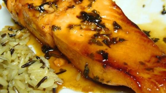 Grilled Cilantro Salmon