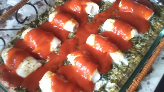 Spinach Sole Roll-Ups