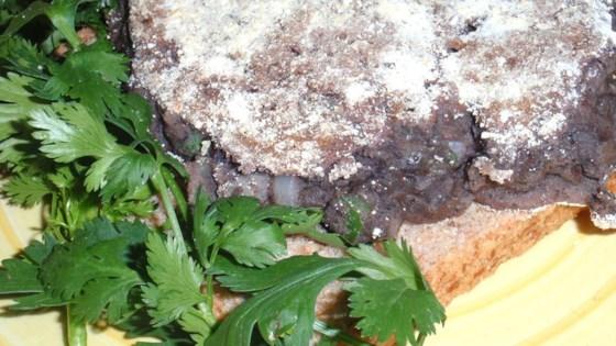 Cornmeal-Crusted Black Bean Burger