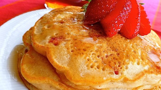 Strawberry Vanilla Pancakes