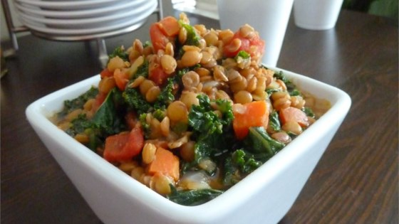 Lemony Lentils with Kale