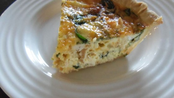 Spinach Quiche with Chicken