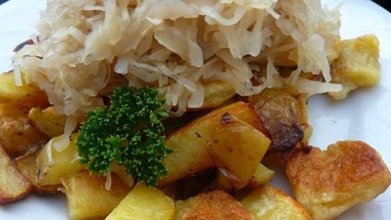Knoephla, Potatoes and Sauerkraut