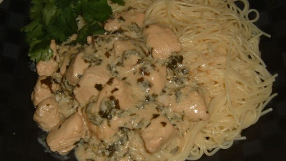Creamy Cilantro Chicken with a Kick