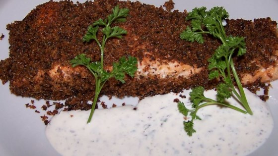 Salmon with Herb Sauce