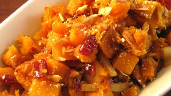 Butternut Squash With Cranberries and Almonds
