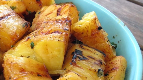 Grilled Tequila-Cilantro Pineapple