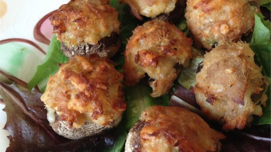 Tuna-Stuffed Mushrooms