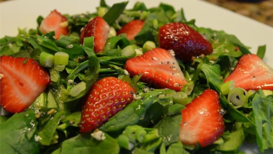 Sesame Strawberry Spinach Salad