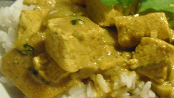Indian Hot Curried Mangos with Tofu