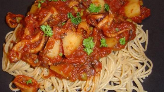 Octopus in Tomato Sauce