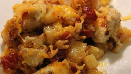 Buffalo Chicken and Roasted Potato Casserole