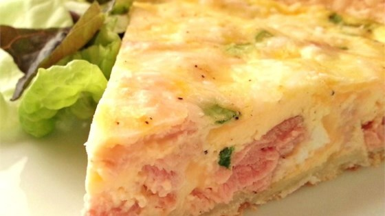 Becky's Healthier Ham and Cheese Quiche