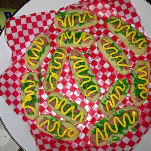 Hot Dog Cookies
