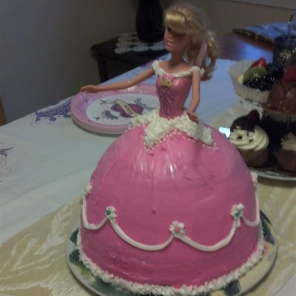 how to make barbie doll cake recipe