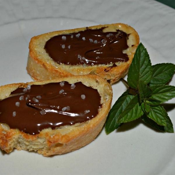 Chocolate Sea Salt Crostini