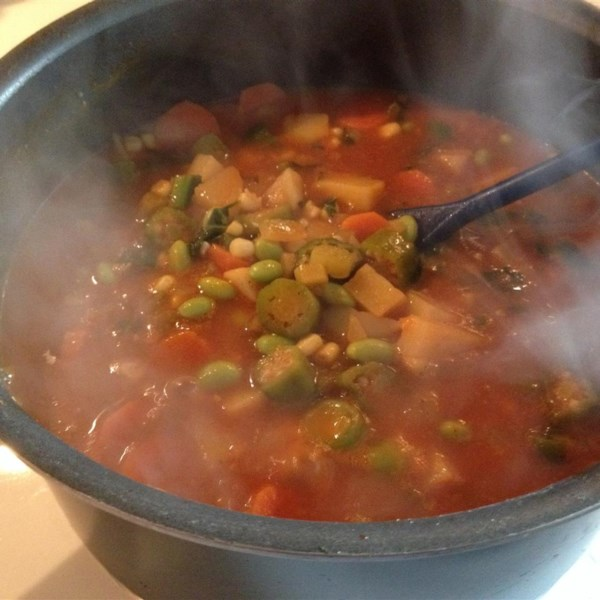 Chunky Vegetarian Vegetable Soup (Fast and Easy) Photos - Allrecipes ...