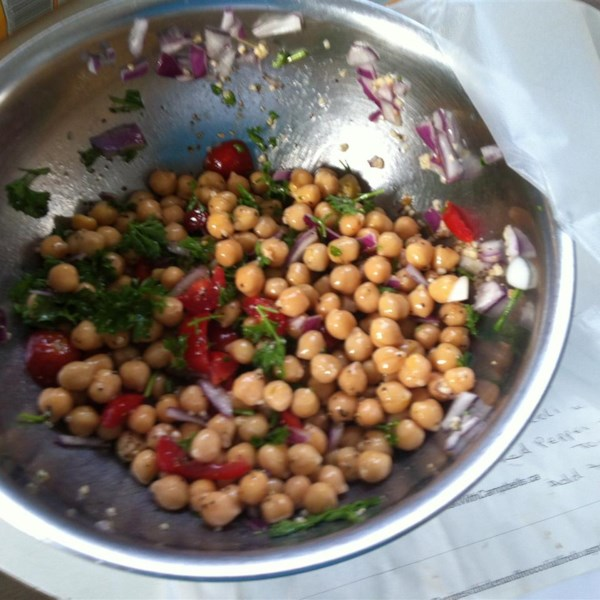 Chickpea Salad with Red Onion and Tomato Photos - Allrecipes.com