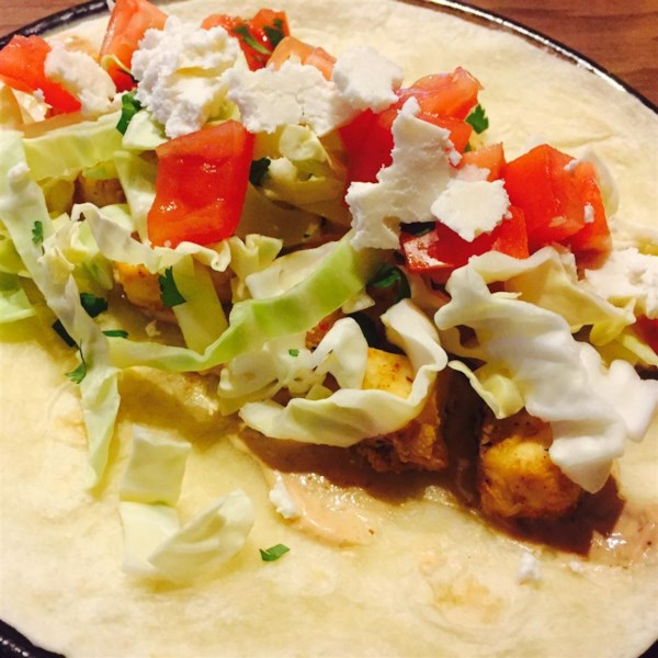Grilled Fish Tacos With Chipotle-Lime Dressing Recipe ...