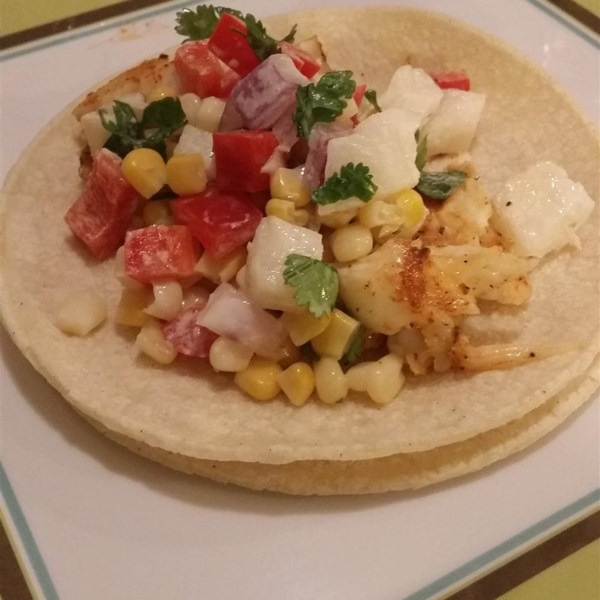 Fiery Fish Tacos With Crunchy Corn Salsa Recipe — Dishmaps