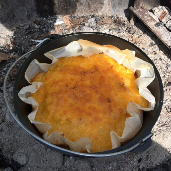 Dutch oven mountain man breakfast photos for Healthy dutch oven camping recipes