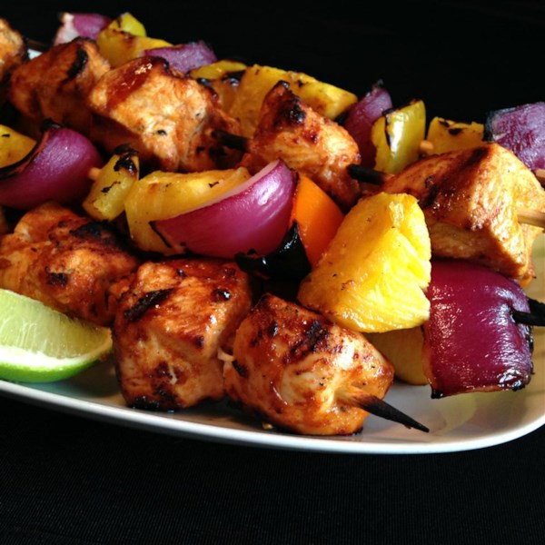 Chili powder and lime juice are a power-duo for these chicken kabobs