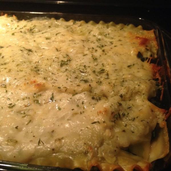White Cheese Chicken Lasagna Recipe — Dishmaps
