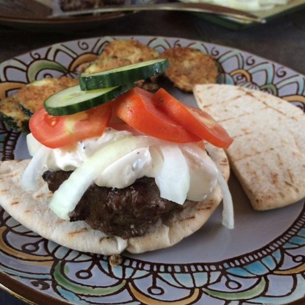 Greek Lamb-Feta Burgers With Cucumber Sauce Photos ...