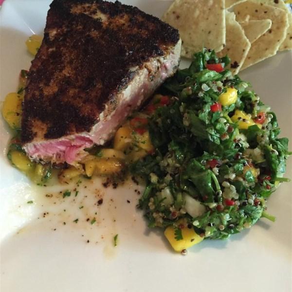 Blackened Tuna Steaks with Mango Salsa Photos - Allrecipes.com