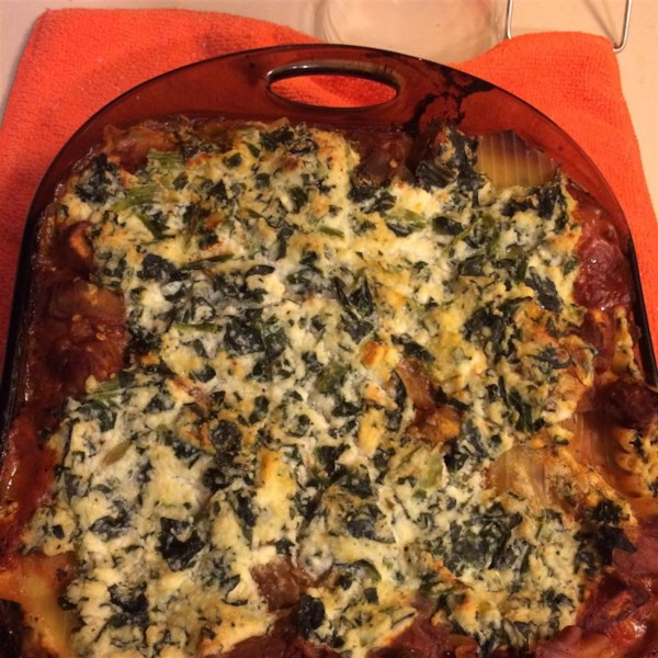 Low Fat Cheesy Spinach and Eggplant Lasagna Photos ...
