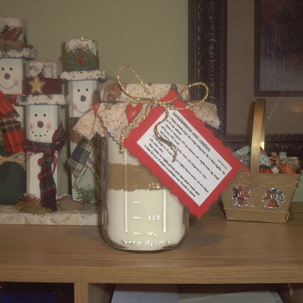 Gingerbread Cookie Mix In A Jar Photos