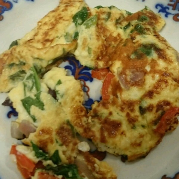 Baby Spinach Omelet Recipe — Dishmaps