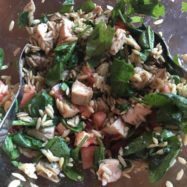 recipe: chicken florentine salad with orzo pasta [11]