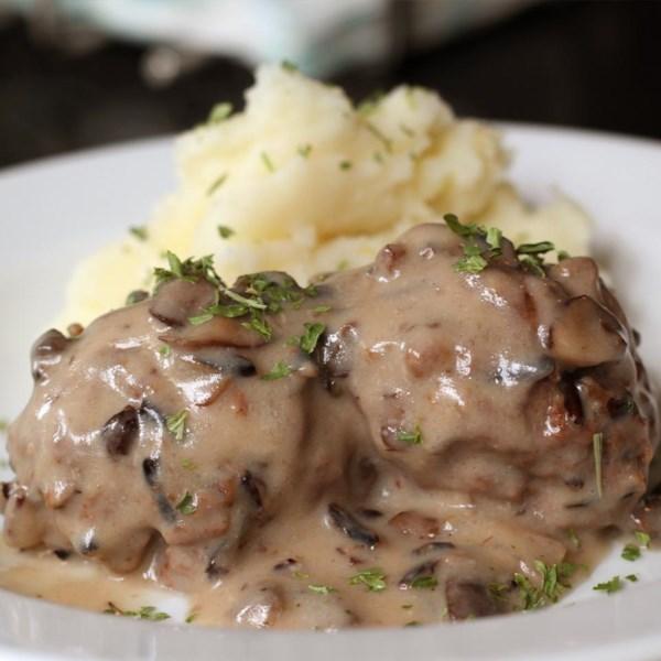 Wild Rice Meatballs in Mushroom Sauce RecipeAllrecipes.com