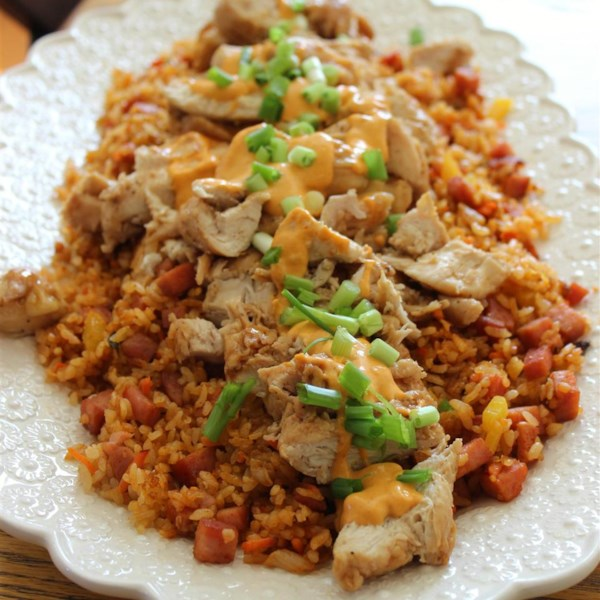 Troy's Korean Glazed Chicken Breast with Kimchee Fried Rice Photos ...