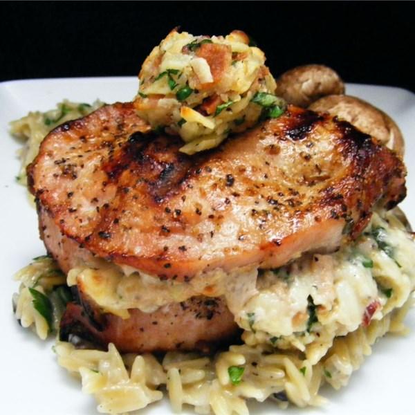 Pork Chops Stuffed with Smoked Gouda and Bacon Photos - Allrecipes.com