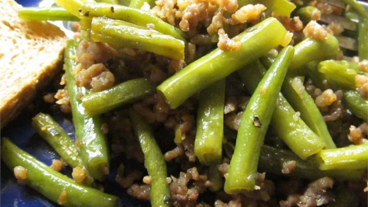 Japanese Green Beans with Beef