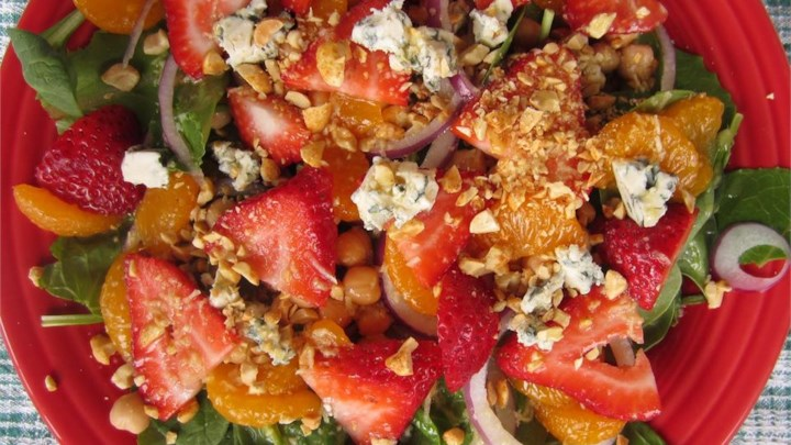 Jean's Super Salad with Ginger-Citrus Dressing