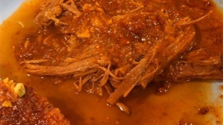 Beef Brisket with Chipotle Tomatillo Sauce