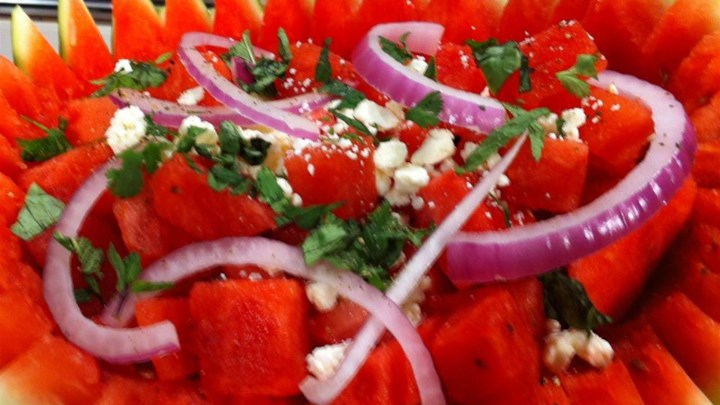 Herb Watermelon Feta Salad