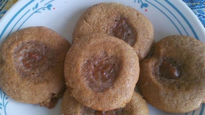 Raspberry Molasses Crinkles