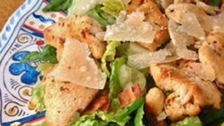 Easy and Fast Cajun Chicken Caesar Salad