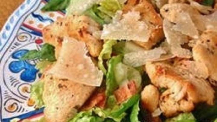 Easy and Fast Cajun Chicken Caesar Salad